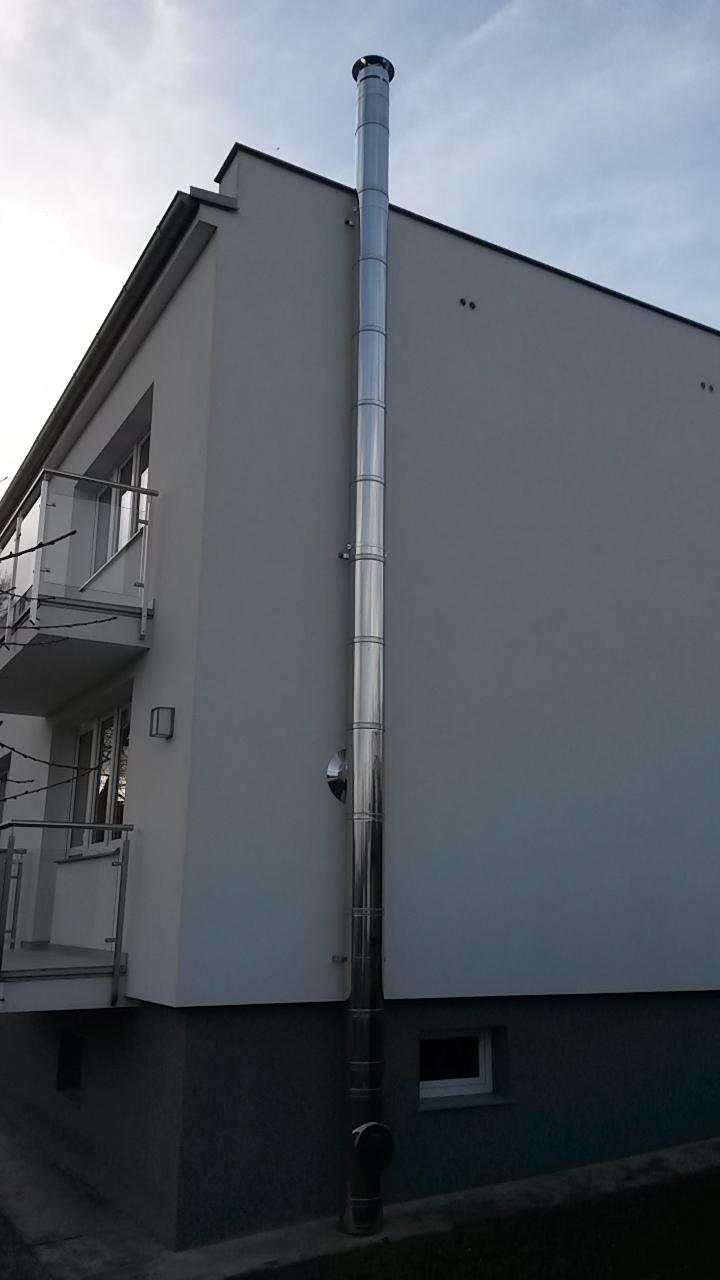 Fasádní komín Schiedel Kerastar DN160