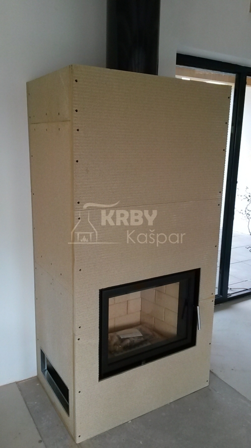 Krbová obestavba vložky Kobok Kompakt, která je vhodná pro nízkoenergetické domy