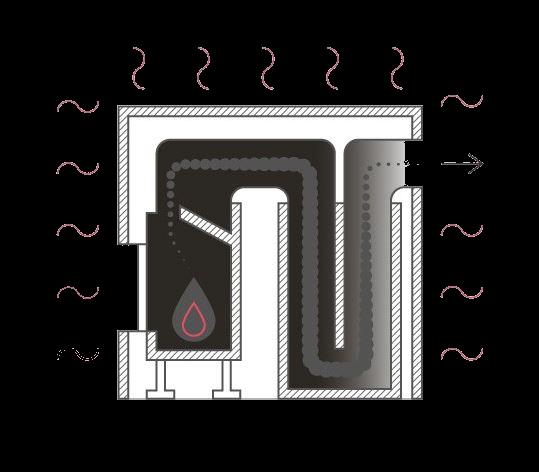 Akumulační plášť krbové vložky